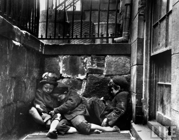 """street arabs in the area of mulberry street"". jacob riis"